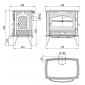 Чугунная печь Dovre 760 WD