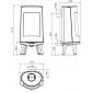 Чугунная печь Dovre BOLD 300/E12 белый