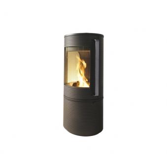 Чугунная печь-камин INVICTA ALTARA + огнеупор бетон футировка, нерж ручка