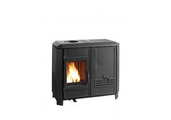 Чугунная печь-камин INVICTA CAROLO MIX антрацит пеллеты/дрова