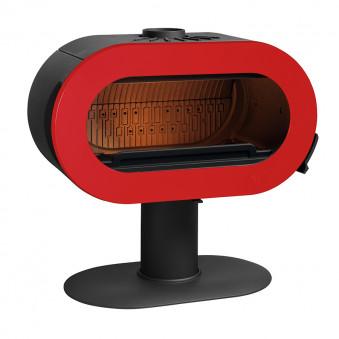 Чугунная печь-камин INVICTA FIFTY красная эмаль