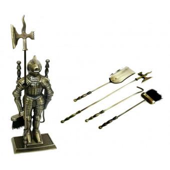 Каминный набор Bonfire Рыцарь 45А латунь